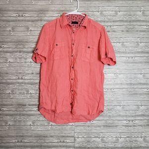 Zara man color button up (medium)